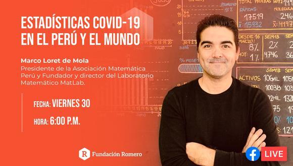 Perú21TV transmitirá charla con el educador y fundador de Mat Lab, Marco Loret de Mola hoy a las 6pm