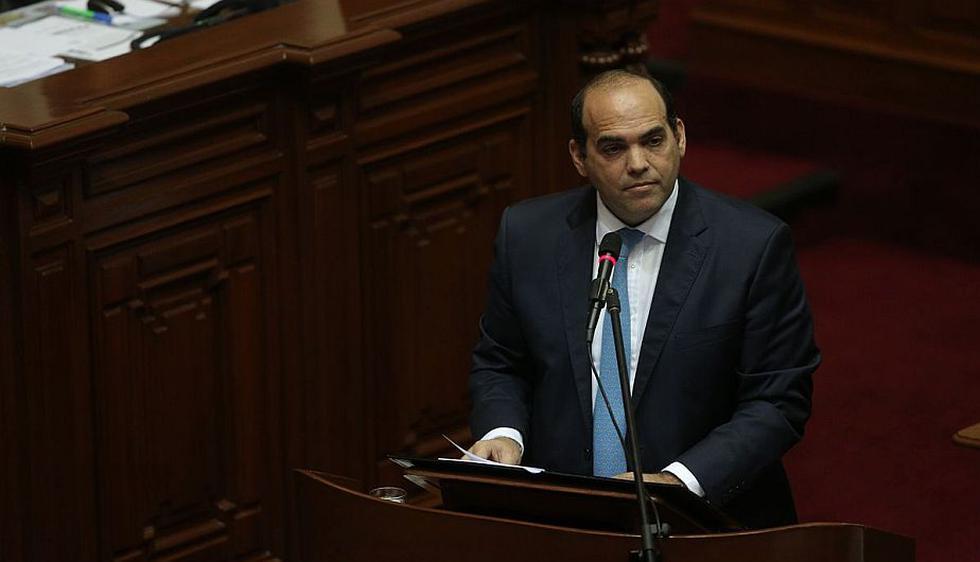 Fernando Zavala expone EN VIVO ante el Pleno del Congreso por el voto de confianza. (Anthony Niño de Guzmán)