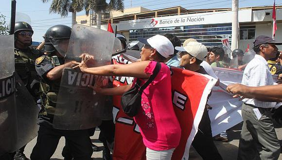 CHICLAYO. Las protestas más violentas se registraron en el norte. (Nadia Quinteros)