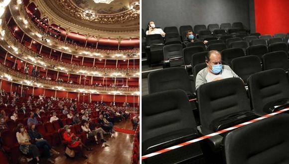 Los españoles poco a poco van regresando a consumir música, cine y teatro de forma presencial en el país. (Foto: EFE)