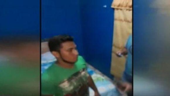 La víctima denunció el hecho ante las autoridades mostrando diversos mensajes de textos. (Foto: Captura América Noticias)