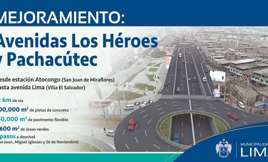 La Municipalidad de Lima detalló que la obra beneficiará a más de 625 mil personas que transitan a diario por estas dos importantes vías. (Foto: Difusión)