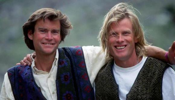 Alex Lowe y Conrad Anker en 1995.   (Chris Noble/Alex Lowe Charitable Foundation)