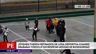 Surco: jóvenes graban videoclip sin respetar el distanciamiento social