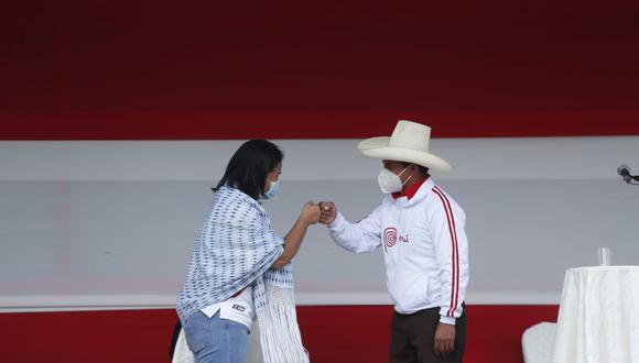 Fujimori y Castillo se lanzaron pullas en el debate pero también presentaron diversas propuestas en Cajamarca (Hugo Pérez/GEC).