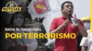 Inicia juicio por terrorismo contra candidato de Perú Libre