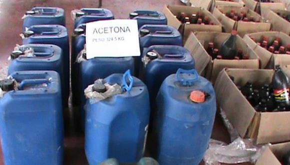 Las sustancias químicas fueron incautados en la provincia de Leoncio Prado. (RPP)