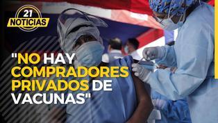 """Presidente Sagasti: """"No hay compras de vacunas por parte de privados"""""""