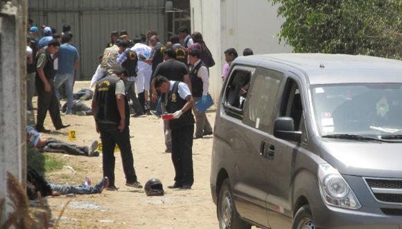 Tras fuego cruzado, seis delincuentes cayeron abatidos y otros resultaron heridos. (Nadia Quinteros)