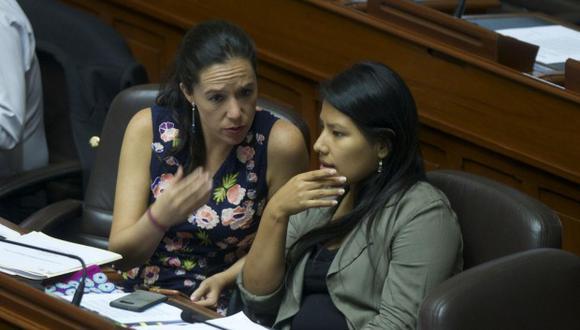 Exparlamentarias compartieron comunicados exponiendo las razones por las cuales se apartan del partido en el que militaban. (Foto: GEC)