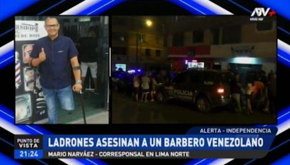Rony Álvarez, quien tenía una discapacidad en una de las piernas, vivía solo en el Perú hace unos meses, ya que su familia se encuentra aún en Venezuela. (ATV)