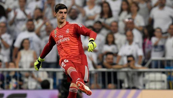 Thibaut Courtois recibió un gol en su primer partido con Real Madrid (Foto: AFP).