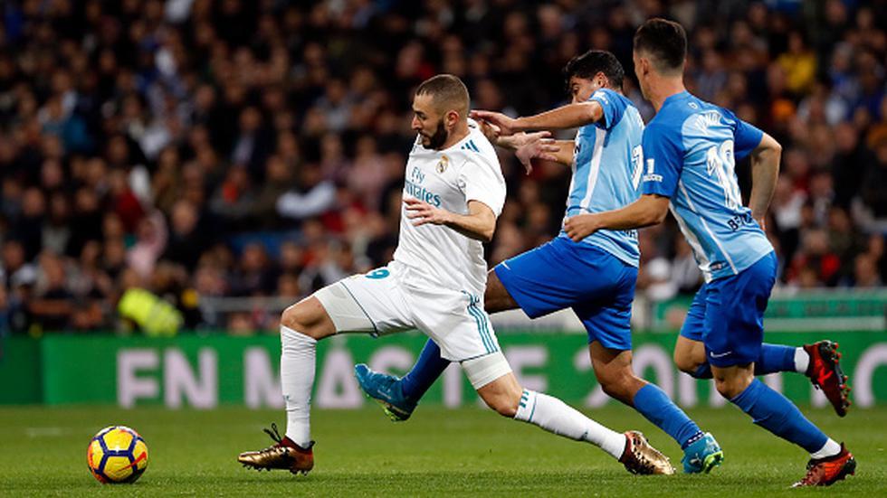Con 64 unidades, Real Madrid marcha cuarto en la tabla de LaLiga, a un punto del Valencia, cuatro del Atlético y 18 del líder Barcelona. (GETTY IMAGES)