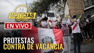 Continúan las protestas en el Centro de Lima
