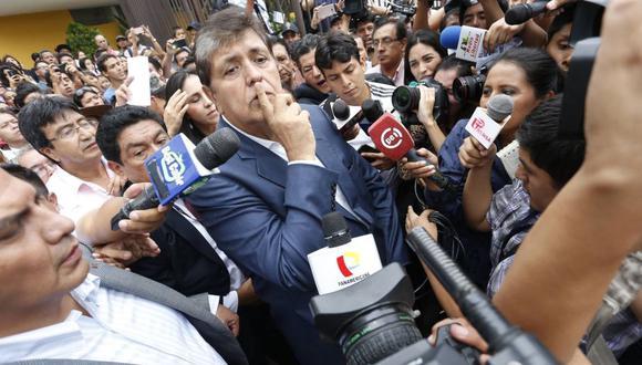 Alan García, cuando estaba convencido de obtener un buen resultado. (Atoq Wallpa)(Atoq Ramón)