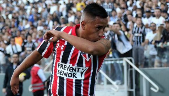 Cueva buscará reivindicarse con el Sao Paulo en el Brasileirao, luego de la tercera eliminación tricolor en la temporada. (GETTY)