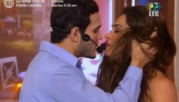 'Esto es guerra': Melissa Loza y Mario Irivarren se besaron por esta razón. (América TV)