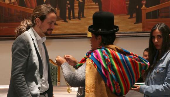 Político español Pablo Iglesias apoya salida al mar de Bolivia. (EFE)