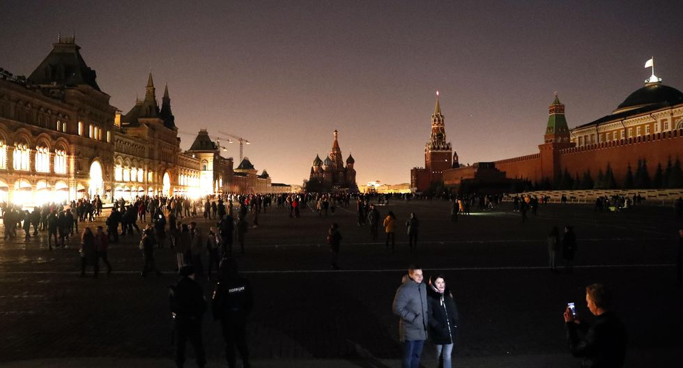 3. Hora del Planeta en Moscú, Rusia (Foto: EFE)