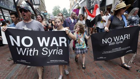 PROTESTAS. Los estadounidenses no quieren una nueva guerra después de Irak y Afganistán. (AP)