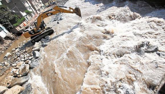 Latente peligro. Río Hablador amenaza a más de 30 mil habitantes que viven atemorizados en varios sectores de Chosica. (GeraldoCaso/Perú21)