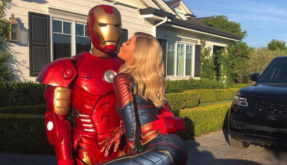 """Kylie Jenner y Travis Scott se disfrazan de superhéroes de """"Avengers: Endgame"""" (Fotos: Instagram)"""