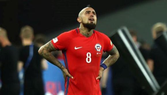 Vidal no podrá disputar el Mundial Rusia 2018. (GETTY)