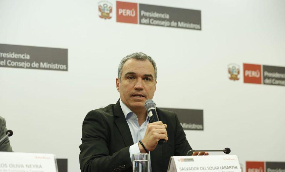 Salvador del Solar acudirá al Congreso para sustentar proyectos de la reforma política. (Foto: PCM)