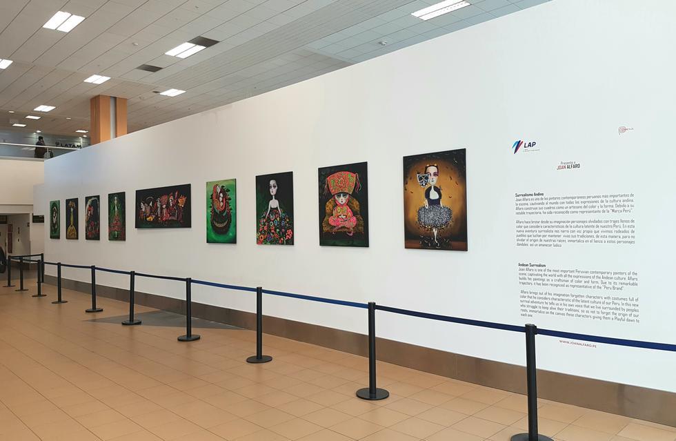 'Surrealismo Andino' se presenta en el Hall de llegadas internacionales del aeropuerto Jorge Chávez (Difusión).