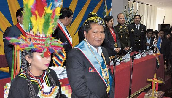 Antiminero. Walter Aduviri tiene una férrea oposición a la explotación de minerales en Puno.