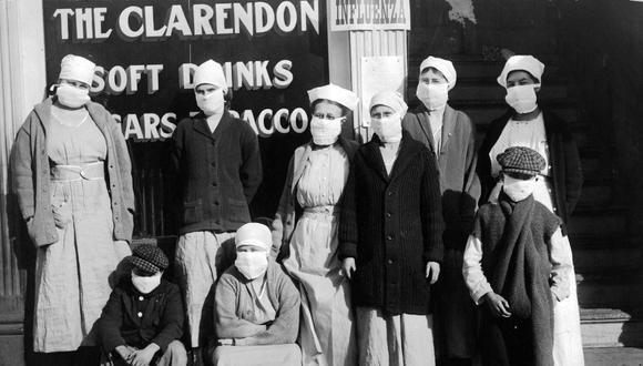 Fotografía tomada durante la pandemia de la gripe española de 1918-1920. (Foto: Difusión)