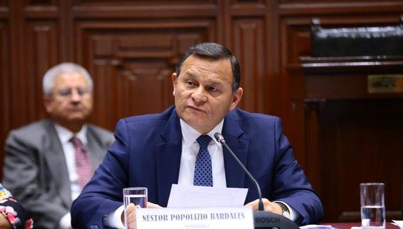 El ministro Néstor Popolizio explicó que el Pacto Mundial se basa en el principio rector de respetar la soberanía nacional. (Foto: Congreso de la República)