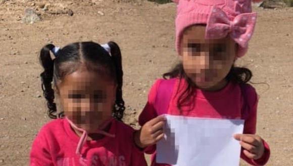 Las autoridades afirmaron que las hermanas de 4 y 6 años estaban deambulando cerca de un represa. (Foto: Facebook / US Border Patrol Yuma Sector)