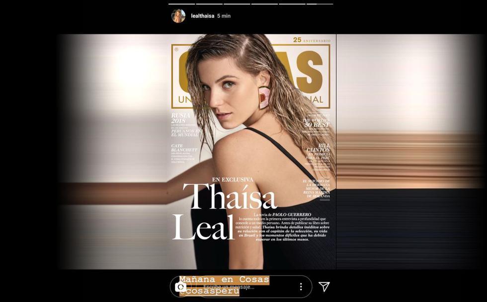 La bella nutricionista será la portada de la revista Cosas. (Créditos: Instagram de Thaísa)