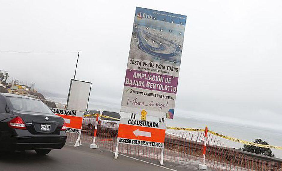 Señalan que accesos a las playas están bloqueados por las obras. (Mario Zapata)
