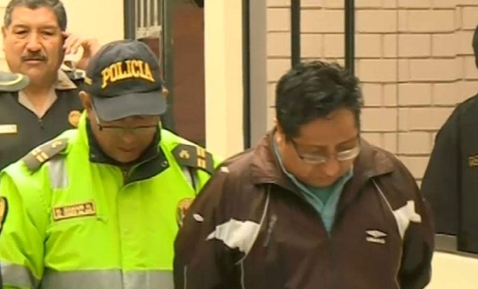 Antonio Huarsaya Alanocca se encuentra detenido. (Foto: Captura/América Noticias)