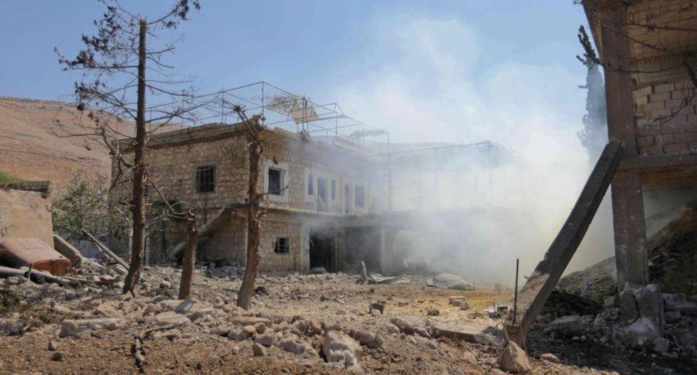 La aviación de Rusia bombardeó el martes varias zonas de la provincia de Idlib, último bastión rebelde del noroeste de Siria, y causó la muerte de al menos nueve civiles. (Foto: AFP)