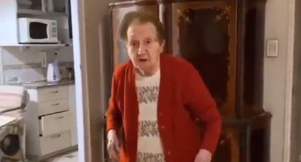 """Sobreviviente al Holocausto sobre aislamiento por coronavirus: """"Yo estuve escondida en un pozo por 3 años"""". (Captura/Twitter)"""