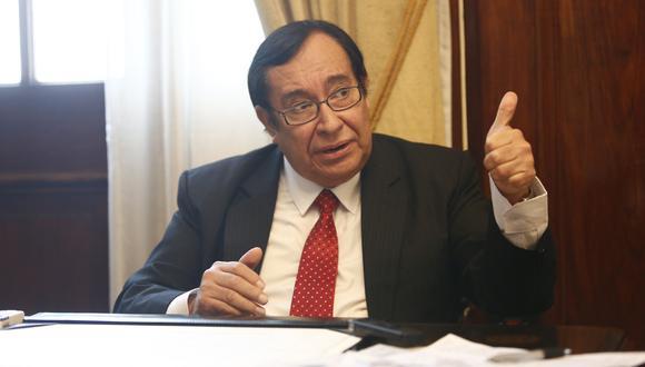 "Prado Saldarriaga aseguró que ""ha sido un honor"" para él servir como titular de dicho poder del Estado. (Foto: USI)"