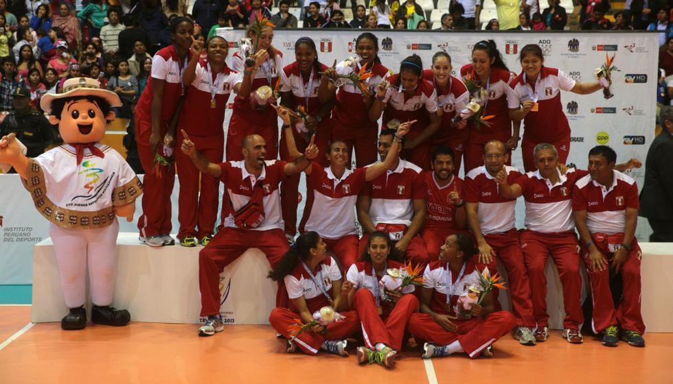 La selección peruana de vóley femenino Sub 23 ganó la medalla de oro en los Juegos Bolivarianos 2013. (Andina)