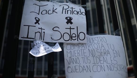 Inti Sotelo y Jack Brian Pintado murieron durante las marchas contra el entonces Gobierno de Manuel Merino. (Foto: GEC)