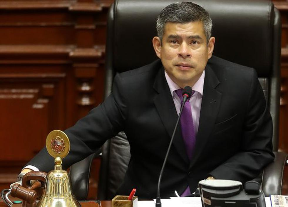 Titular del Congreso se pronunció sobre la compra de televisores y frigobares. (Perú21)