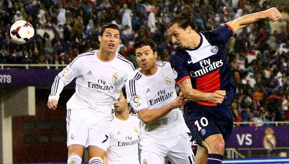 Real Madrid de Cristiano Ronaldo ganó 1-0 al PSG de Zlatan Ibrahimovc en amistoso. (AFP)