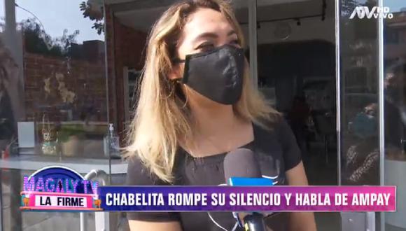 "Isabel Acevedo ""Chabelita"" asegura estar soltera pese a imágenes de ""Magaly TV: La Firme"". (Foto: Captura ATV)"