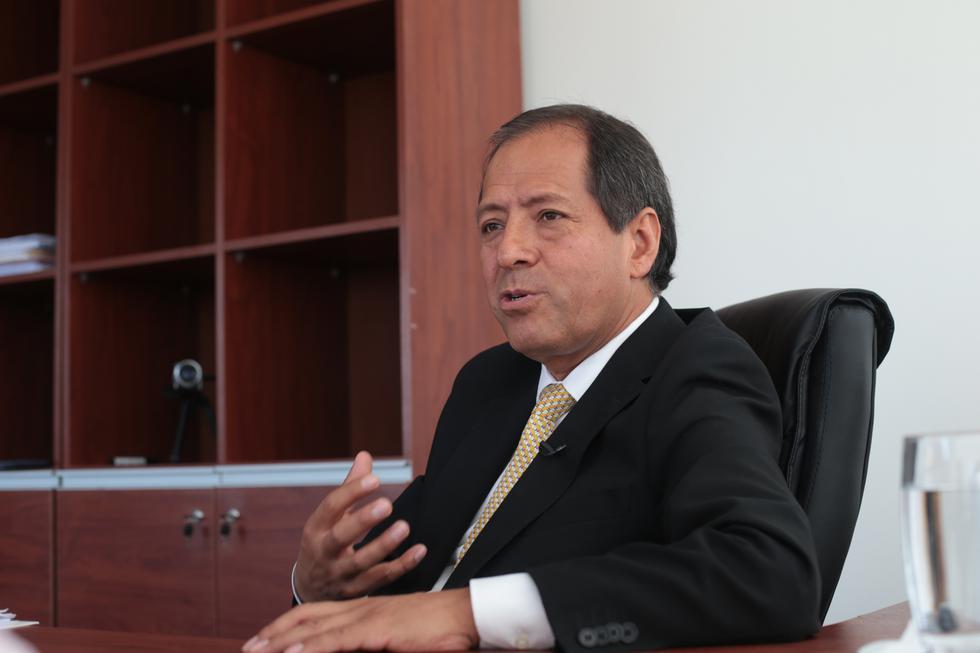 """Edgar Quispe, director ejecutivo de la Autoridad para la Reconstrucción con Cambios:""""Vamos a dar todas las facilidades para que el proceso continúe sin baches"""".(FOTO: USI)"""