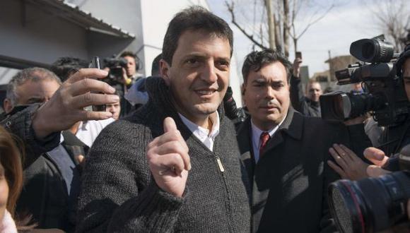 VICTORIA. Sergio Massa, antiguo hombre del kirchnerismo, lidera ahora la oposición en la capital. (AFP)