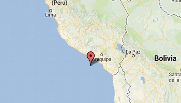 Mapa de la ubicación del sismo en Arequipa. (IGP)