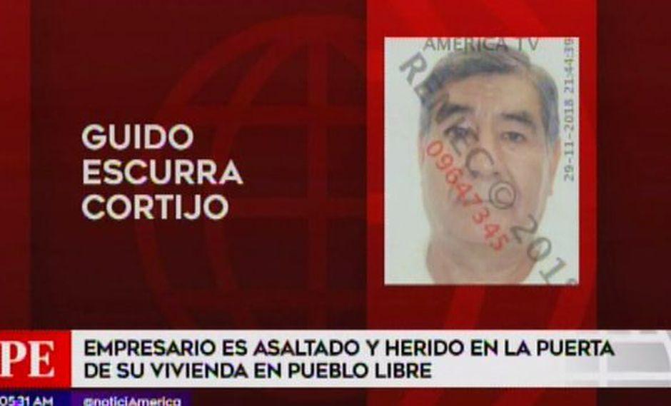 Le robaron 11 mil soles e incluso le dispararon. (Foto: Captura/América Noticias)