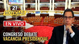 Pleno del Congreso debate moción de vacancia presidencial
