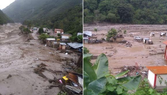 La zona más afectada por el aluvión fue el pueblo de Sahuayaco. (Fotos: COER Cusco)